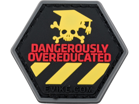 Operator Profile PVC Hex Patch Catchphrase Series (Style: Dangerously Overeducated)