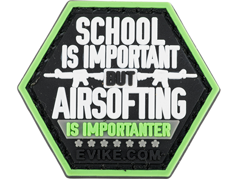 Operator Profile PVC Hex Patch Catchphrase Series (Style: Airsofting is Importanter)
