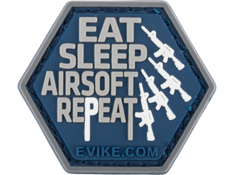 Operator Profile PVC Hex Patch Catchphrase Series (Style: Eat Sleep Airsoft Repeat)