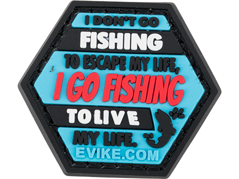 Operator Profile PVC Hex Patch Fishing Series (Style: Fishing Life)