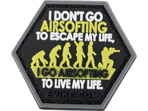 Operator Profile PVC Hex Patch Catchphrase Series 5 (Style: Airsoft Life)
