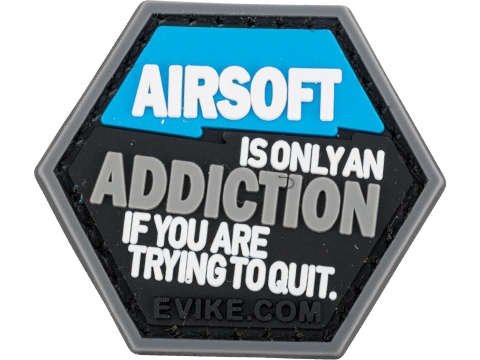 Operator Profile PVC Hex Patch Catchphrase Series (Style: Airsoft Addiction)