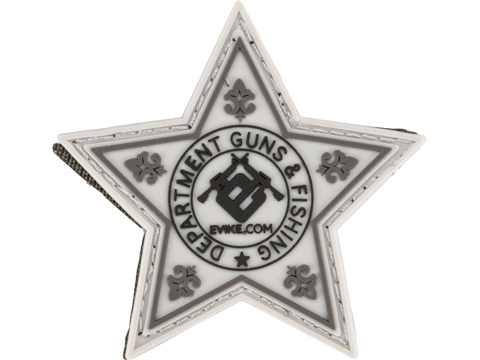 Evike.com Department of Guns & Fishing - Star Badge PVC Patch
