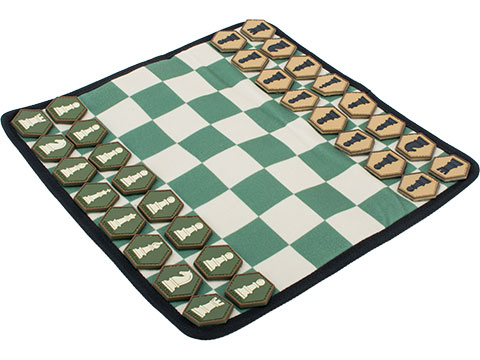 Evike.com Hex Patch Chess Roll-Up Travel Chessboard w/ PVC Hex Chess Pieces
