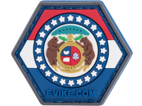 Operator Profile PVC Hex Patch State Flag Series (State: Missouri)