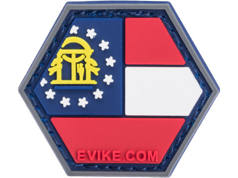 Operator Profile PVC Hex Patch State Flag Series (State: Georgia)