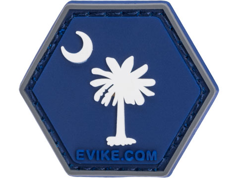 Operator Profile PVC Hex Patch State Flag Series (State: South Carolina)