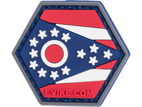 Operator Profile PVC Hex Patch State Flag Series (State: Ohio)