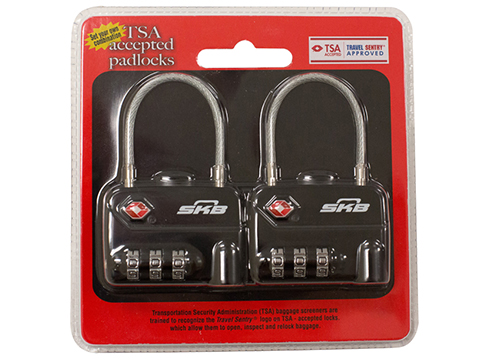 SKB TSA Combination Cable Padlocks (Set of 2)