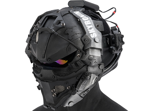 Sky Ronin Assault Helmet w/ Full Seal Face Mask (Color: Black)