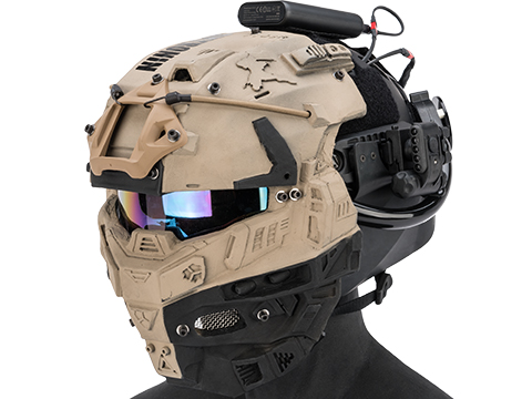 Sky Ronin Medic Helmet w/ Full Seal Face Mask (Color: Tan)