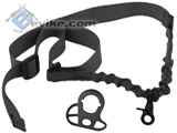 Matrix CQB-R Sling Adapter w/ One Point Bungee Sling (Black)