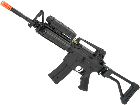 JG Custom Polymer M4A1 RIS Carbine with Side Folding Stock and PEQ Battery Box