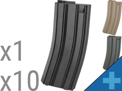 6mmProShop 140rd Midcap Magazine for M4 M16 Series Airsoft AEG Rifles