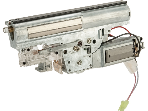 Complete Reinforced Gearbox with Motor for P90 Series Airsoft AEG (Model: High Power Motor)