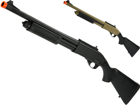 Golden Eagle M870 Gas Powered 3/6 Shot Pump Action Full Metal Airsoft Shotgun