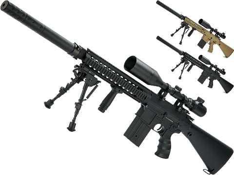 Matrix Full Size SR25 Precision Rifle Airsoft AEG