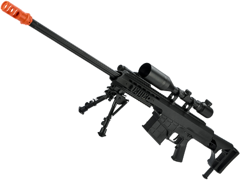6mmProShop Barrett Licensed M98B w/ Folding Stock Long Range Airsoft AEG Sniper Rifle