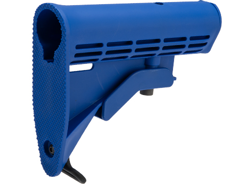 Matrix Training LE Style Stock for Airsoft M4 Series AEG Rifle (Color: Blue)