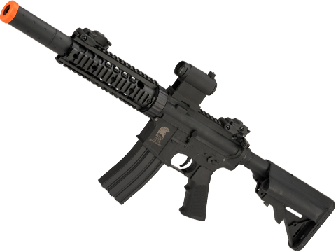 Matrix / S&T Sportsline M4 RIS Airsoft AEG Rifle w/ G3 Micro-Switch Gearbox (Model: Black CQB-R 7)