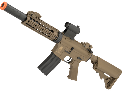 Matrix Sportsline M4 RIS Airsoft AEG Rifle w/ G2 Micro-Switch Gearbox (Model: CQB-R / Dark Earth)