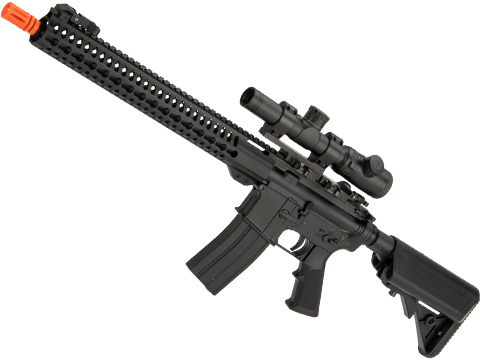 Matrix M4 GBB AR-15 Gas Blowback Airsoft Rifle w/ Reinforced WA System by S&T (Model: Slim Keymod 15)
