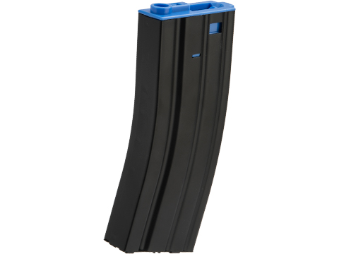Matrix Metal 300rd Hi-Cap Magazine for M4/M16 Series Airsoft AEG Rifles (Color:  Blue)