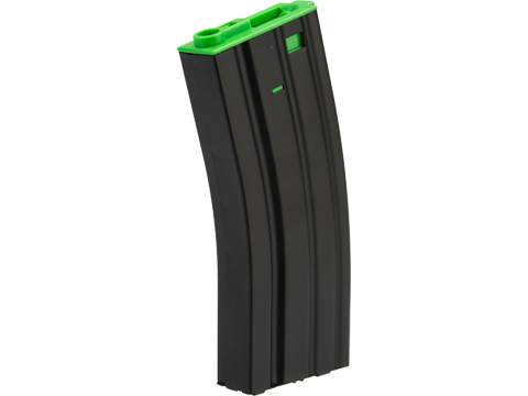 Matrix Metal 300rd Hi-Cap Magazine for M4/M16 Series Airsoft AEG Rifles (Color:  Green)