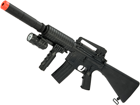 M4 SR-16 3/4 Scale Airsoft Spring Powered Rifle by ZM with flashlight / 280 FPS
