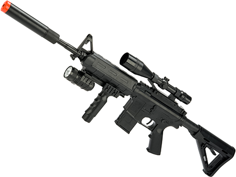 ZM 3/4 Scale Spring Powered Airsoft M4 Rifle (Color: Black)