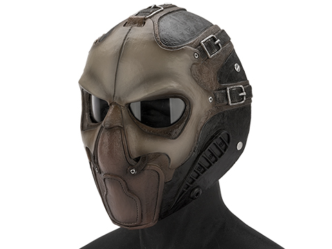 Evike.com R-Custom Fiberglass  Smoke Full Face Mask (Color: Desert / Clear Lens)
