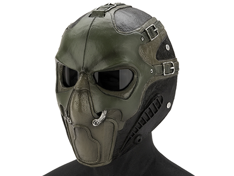 Evike.com R-Custom Fiberglass  Smoke Full Face Mask (Color: OD / Smoked Lens)