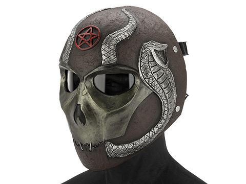 Evike.com R-Custom Fiberglass  Snake Eater Full Face Mask (Color: Copper / Clear Lens)
