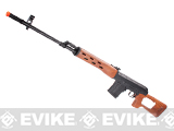 Pre-Order Estimated Arrival: 04/2015 --- SVD Dragunov Bolt Action Sniper Rifle w/ Imitation Wood Furniture by A&K / JG