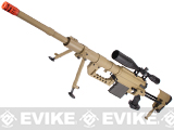 Beta Project M200 Intervention Full Metal Bolt Action Sniper Rifle by 6mmProShop (Desert)