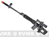 Matrix SVD II Dragunov Bolt Action Airsoft Sniper Rifle (Stealth Black)