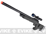 Matrix Shadow Ops MB05 SR-22 Tactical Airsoft Sniper Rifle w/ Adjustable Stock (Color: Black + Scope and Bipod)
