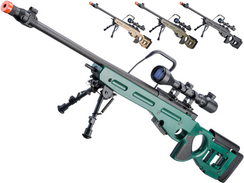Snow Wolf SV-98 Bolt Action Airsoft Sniper Rifle (Color: Russian Green)