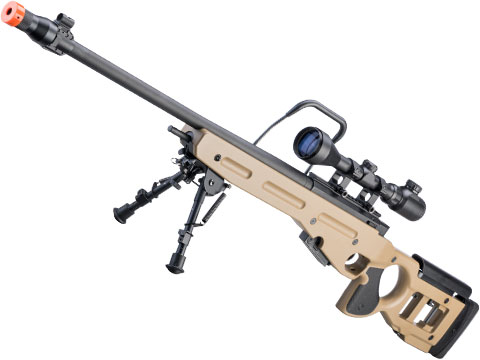 Snow Wolf SV-98 Bolt Action Airsoft Sniper Rifle (Color: Tan)