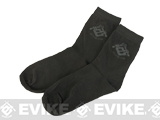 Evike.com Performance EDW Tactical Socks - Black (6 Pair)