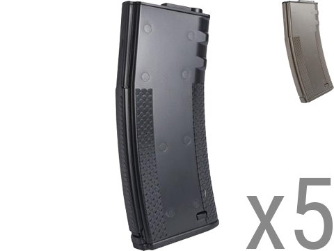 SOCOM Gear 190rd TROY Licensed Polymer BattleMag Airsoft Mid-Cap Magazines