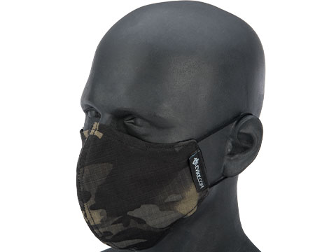 Evike.com NyCo Reusable Washable Face Mask (Color: Black Camo)