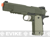P-Force Full Metal Spring Powered 1911 Airsoft Pistol - OD Green