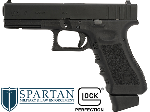 Spartan Licensed GLOCK Blowback Training Pistol - LE / Military ONLY (Model: G17 Gen.4 / Gun Only)