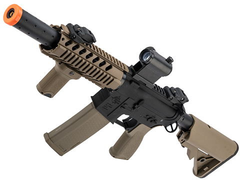 Specna Arms / Rock River Arms Licensed EDGE Series M4 AEG (Model: M4 CQB Suppressed / 2-Tone Black & Tan SA-E11)