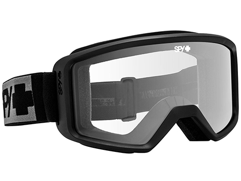 Spy Optic Shield ANSI Z87.1 Goggles (Color: Black Frame / Clear Lens)
