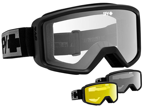Spy Optic Shield ANSI Z87.1 Goggles (Color: Black Frame / Gray Lens)