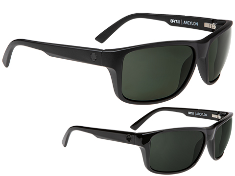 Spy Optic Arcylon Sunglasses (Color: Matte Black Frame / HD Plus Gray Green Lens / Polarized)