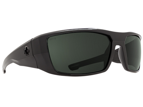 Spy Optic Dirk Sunglasses (Model: Black Frame / ANSI RX / HD Plus Gray Green Lens)