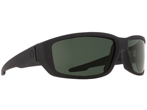 Spy Optic Dirty Mo Sunglasses (Color: Matte Black Frame / HD Plus Gray Green Lens / Polarized)